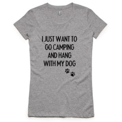 Camping with Dogs Ladies T-Shirt