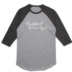 Bulldust and Back Roads Script Unisex Raglan Top