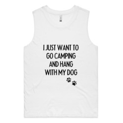 Camping with Dogs Ladies Muscle Tank